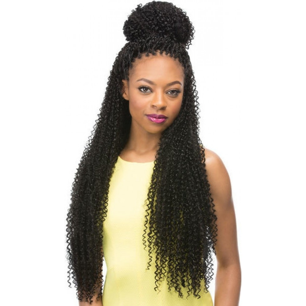 Most Recent Braided Hairstyles With Curly Weave Inside Curly Weave Hairstyles With Braids Outre X Pression Braid – Jerry (View 7 of 15)