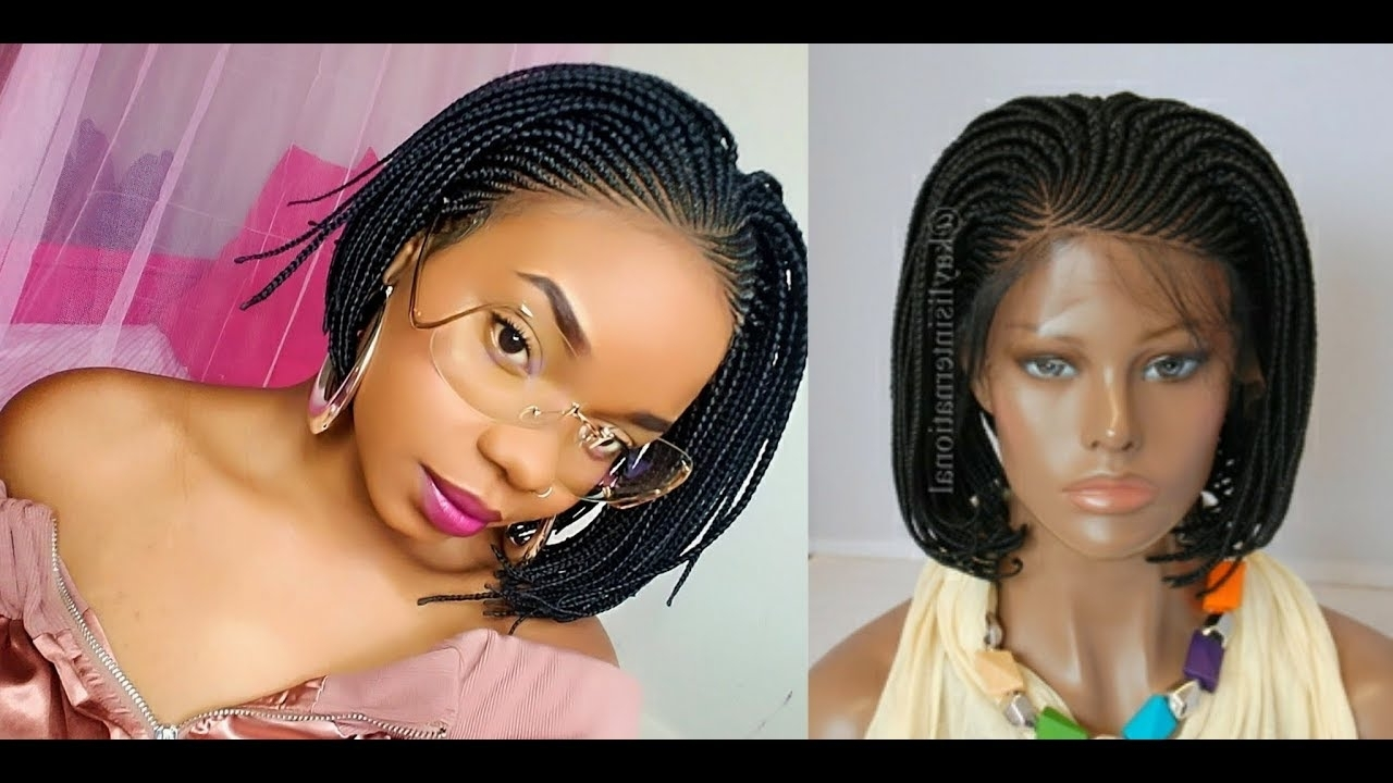 Most Recent Cornrows Bob Hairstyles Pertaining To 90's Realness! Braided Bob Lace Wig (View 10 of 15)