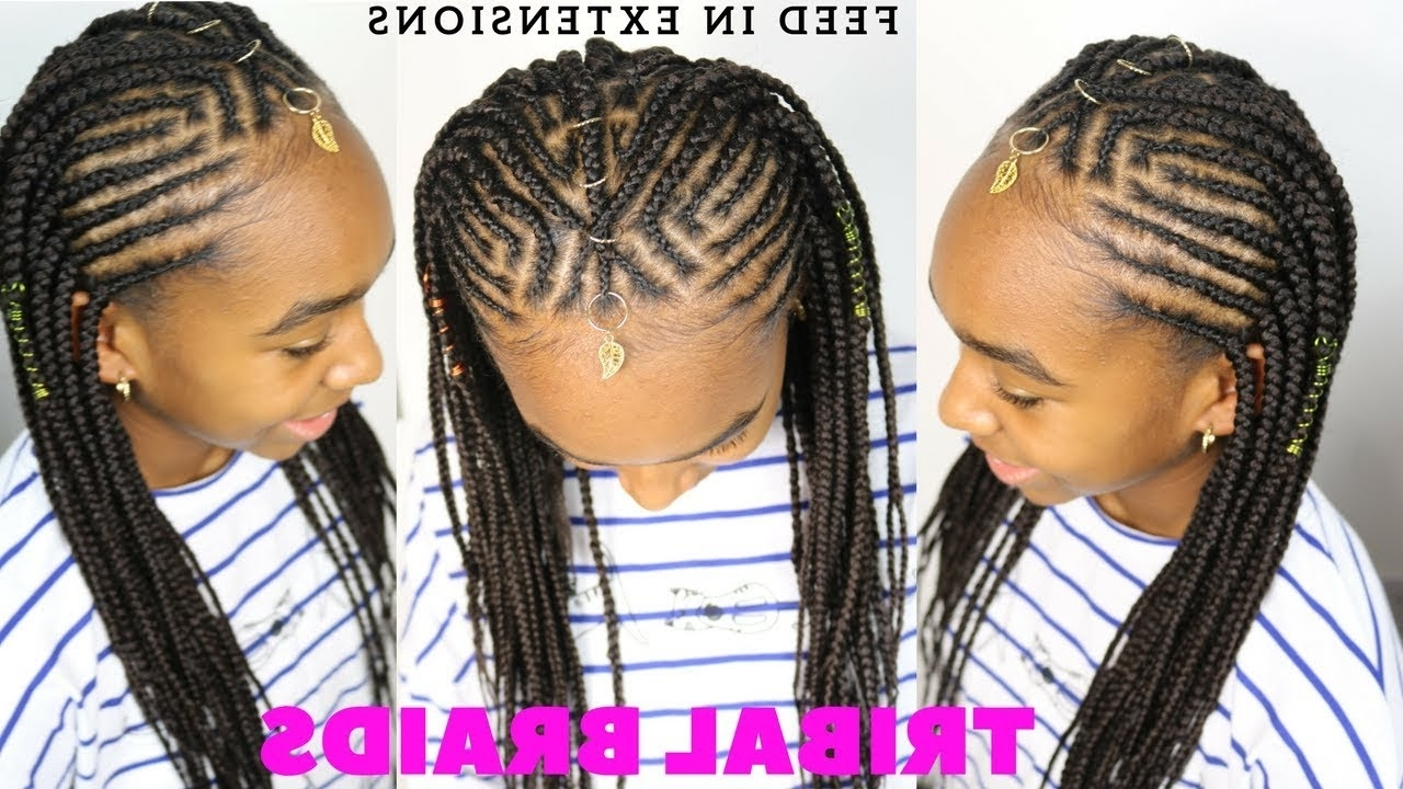 Most Recent Cornrows Hairstyles With Braids Inside Tribal Braids & Cornrows Tutorial (View 11 of 15)