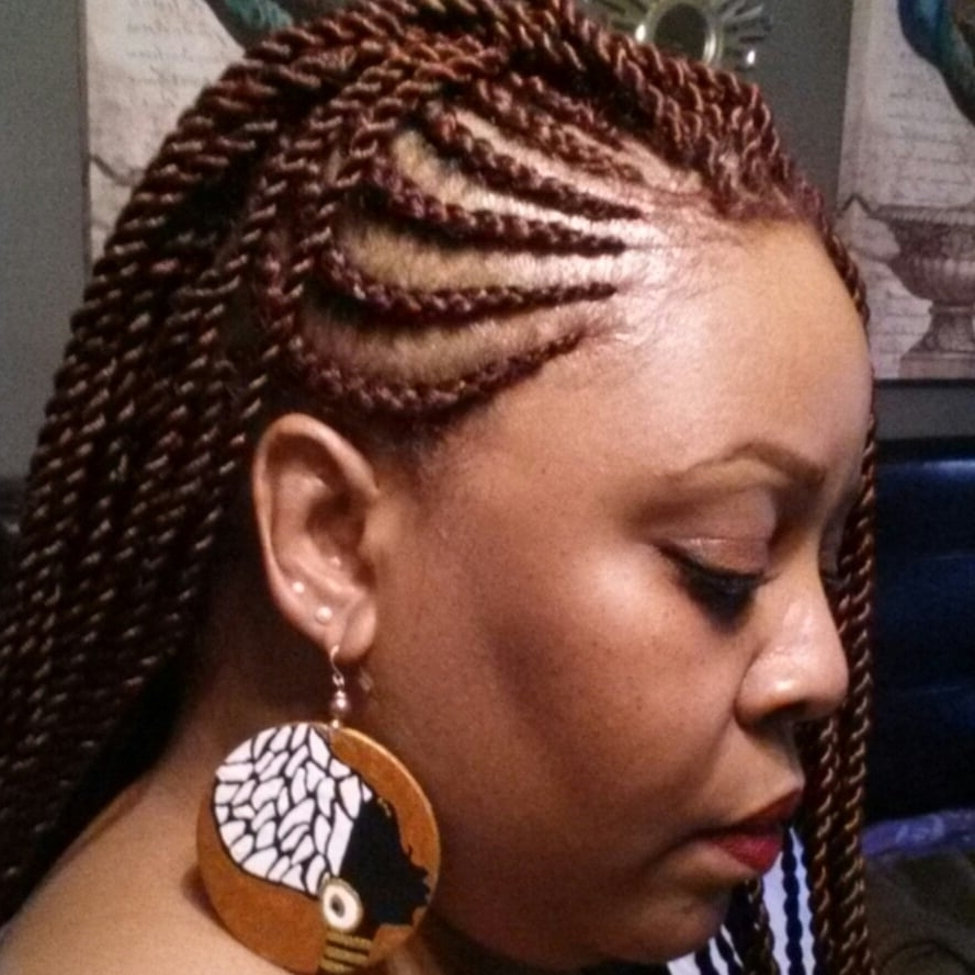 Most Recent Cornrows With A Twist In Side Braids (cornrows And Senegalese Twists) – Yelp (View 15 of 15)