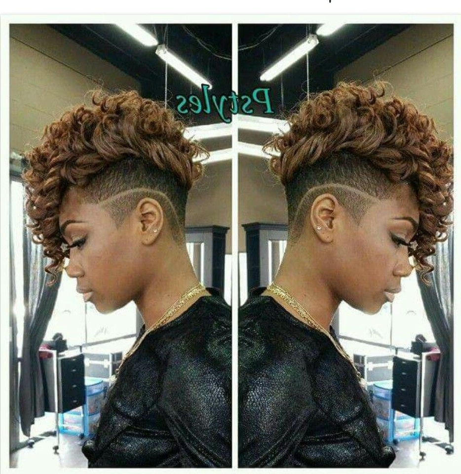 Most Recent Curly Mohawk With Flat Twisted Sides Pertaining To Shaved Sides (View 10 of 15)