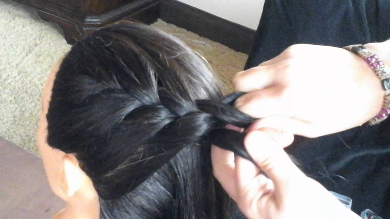 Most Recent Diagonal French Braid Hairstyles Regarding Diagonal French Braid – Youtube (View 11 of 15)