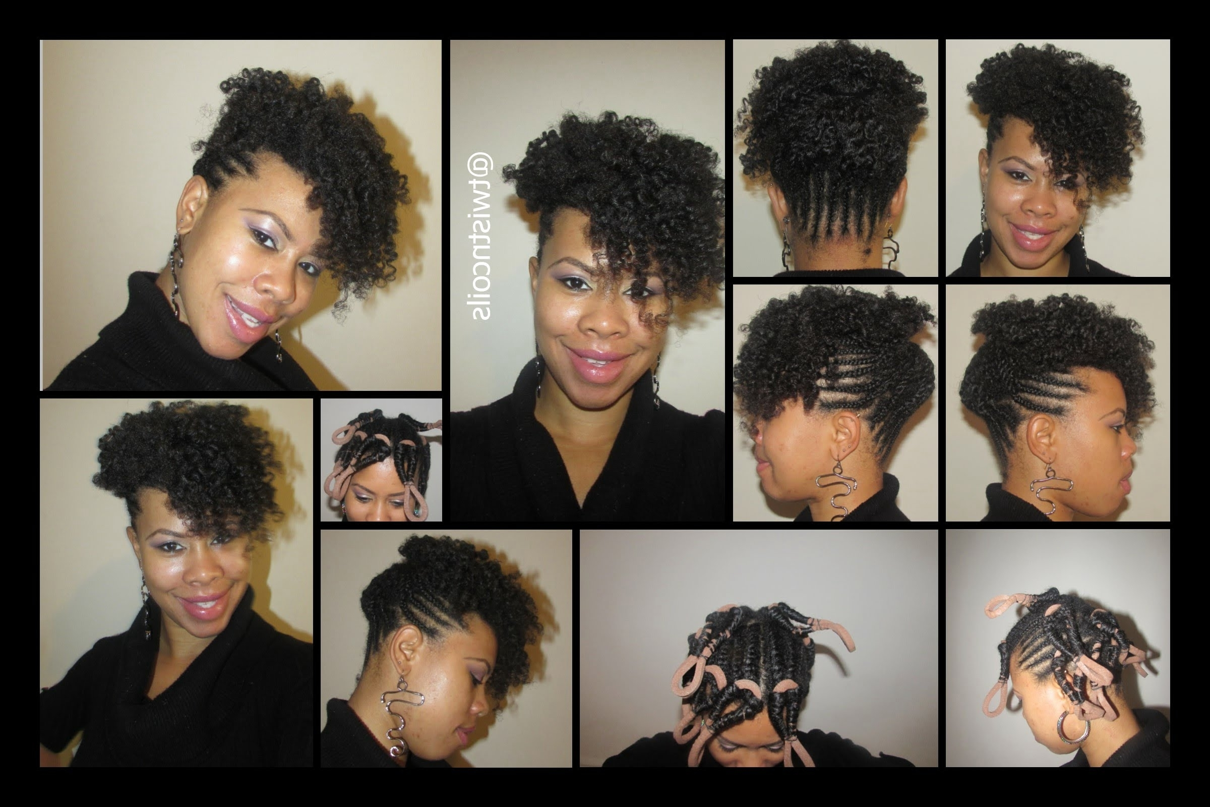 Most Recent Mohawk With Criss Crossed Braids With ♡ Tnc – 20 ♡ Braided Curly Frohawk/mohawk On Natural Hair – Youtube (View 10 of 15)