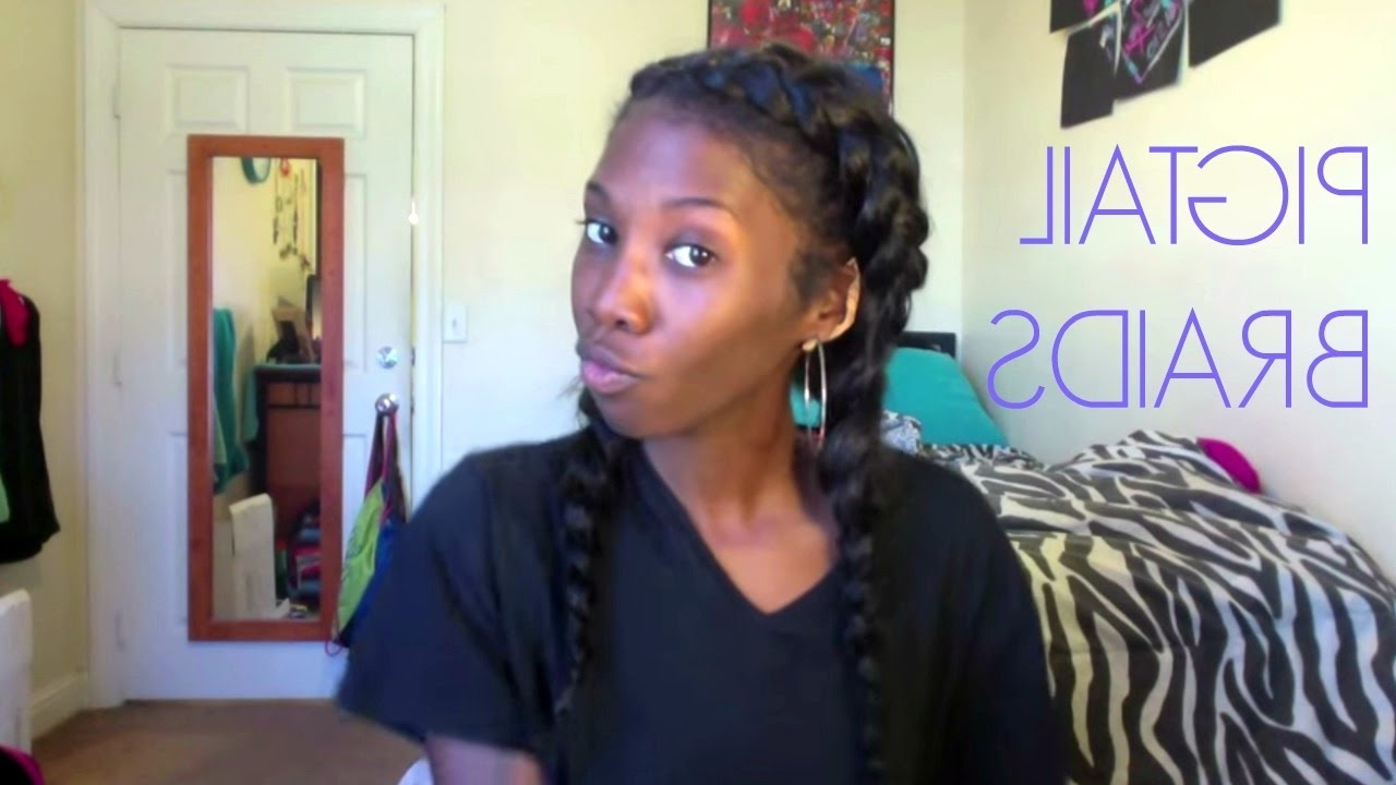 Most Recent Side French Cornrow Hairstyles Regarding Two Double Dutch French Braid Cornrow Pigtails With Clip In (View 8 of 15)