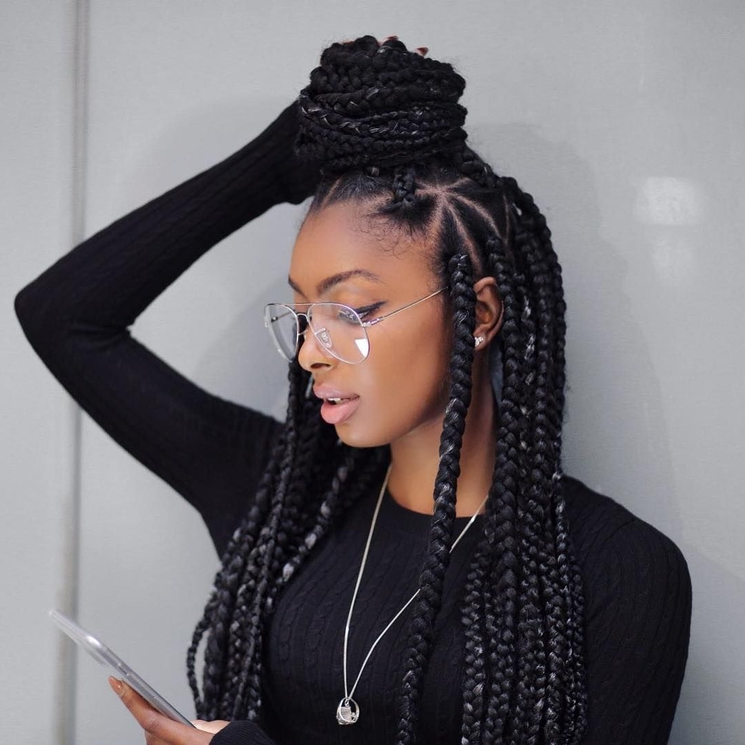 Most Recent Triangle Box Braids Hairstyles Regarding Big Box Braids Hairstyles – Leymatson (View 12 of 15)