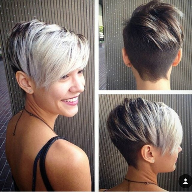 Featured Photo of Two Tone Pixie Haircuts