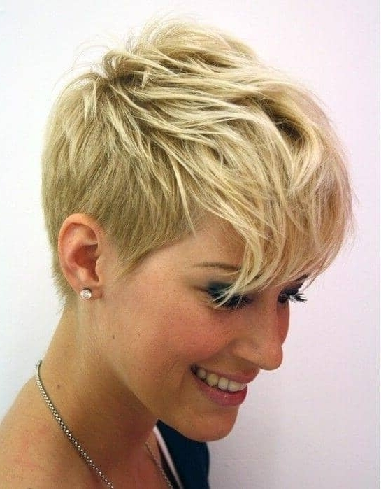Most Recently Released Blonde Pixie Haircuts With Short Angled Layers Intended For 50 Pixie Haircuts You'll See Trending In (View 12 of 15)