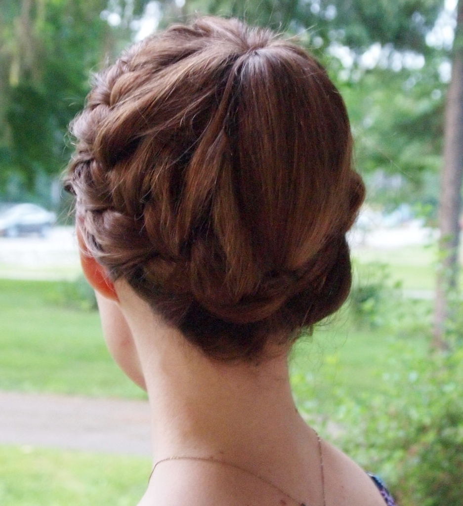 Most Recently Released Double Braids Updo Hairstyles Throughout Double Braided Updo Hairstyle: 3 Steps (With Pictures) (View 11 of 15)