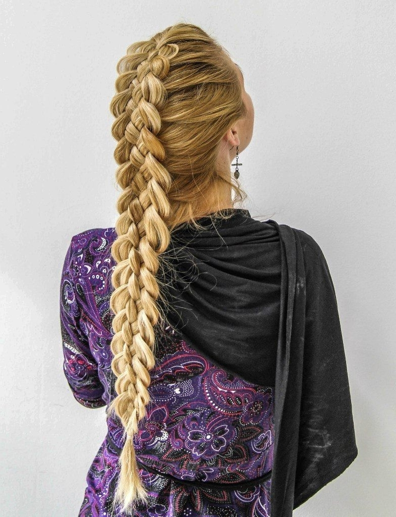 Most Recently Released Formal Braided Bun Updo Hairstyles Throughout Double French Braid #hairstyles #hairstyle #hair #long #short (View 14 of 15)