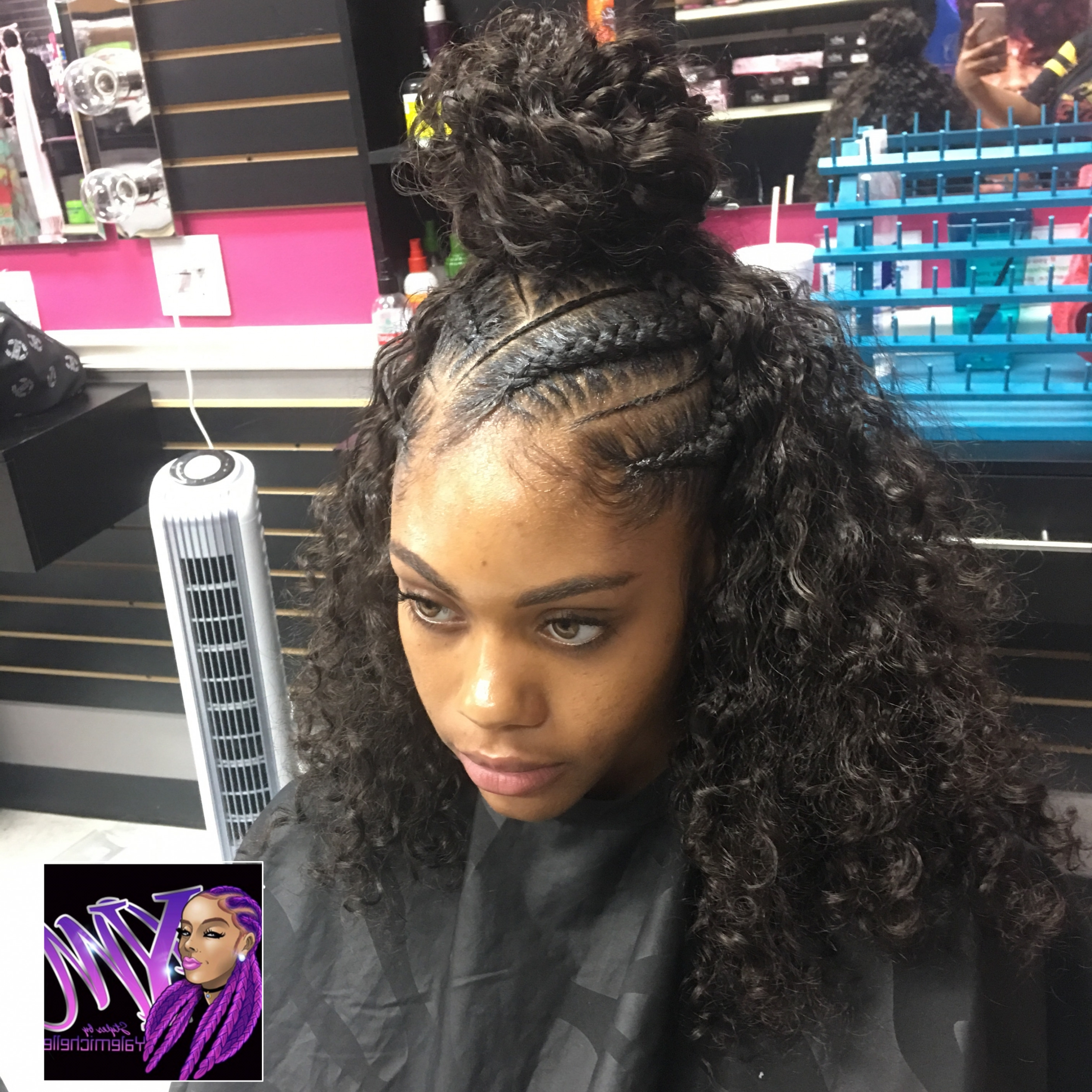 Most Recently Released Half Up Half Down Cornrows Hairstyles With Afro American Half Up And Half Down Hairstyles 2018 – Orlandowhite (View 5 of 15)