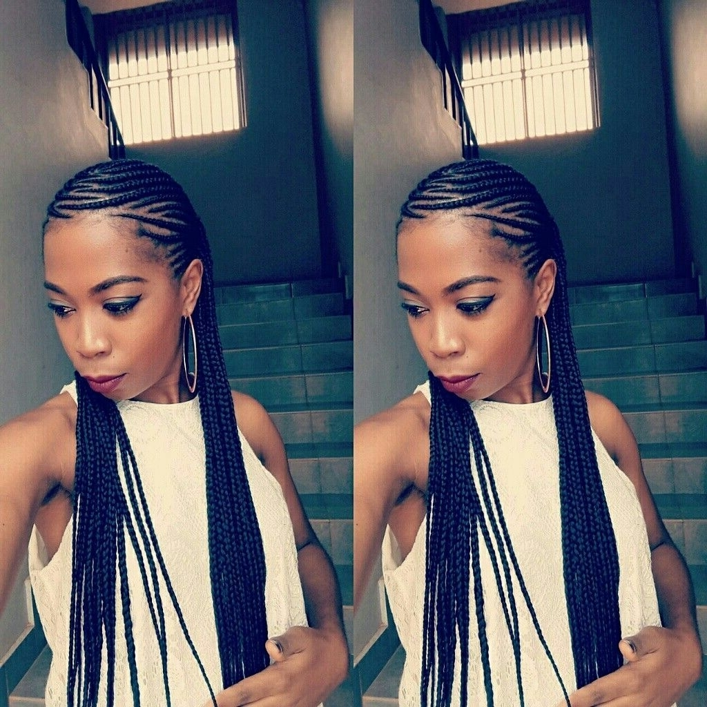 Most Recently Released Medium Cornrows Hairstyles Pertaining To Hairstyle For Medium Hair For Women (View 12 of 15)
