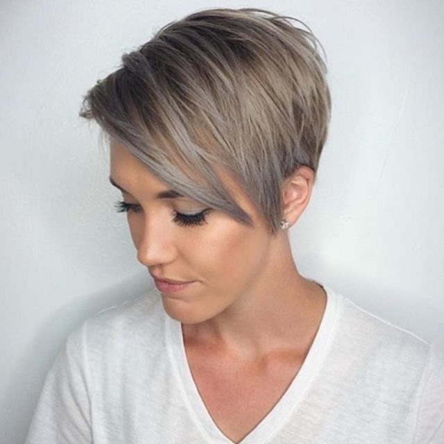 Most Recently Released Platinum Blonde Disheveled Pixie Haircuts Pertaining To 12 Long Pixie Cuts, Bangs And Bob You Will Ever Need (View 8 of 15)