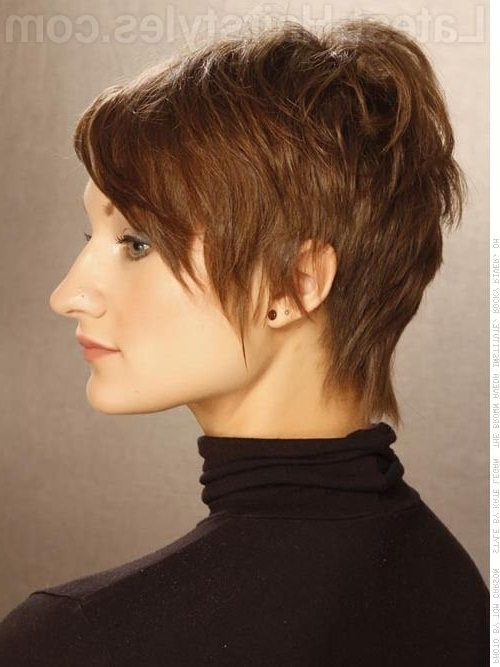 Most Recently Released Razored Haircuts With Precise Nape And Sideburns Throughout The Short Pixie Cut – 39 Great Haircuts You'll See For  (View 11 of 15)