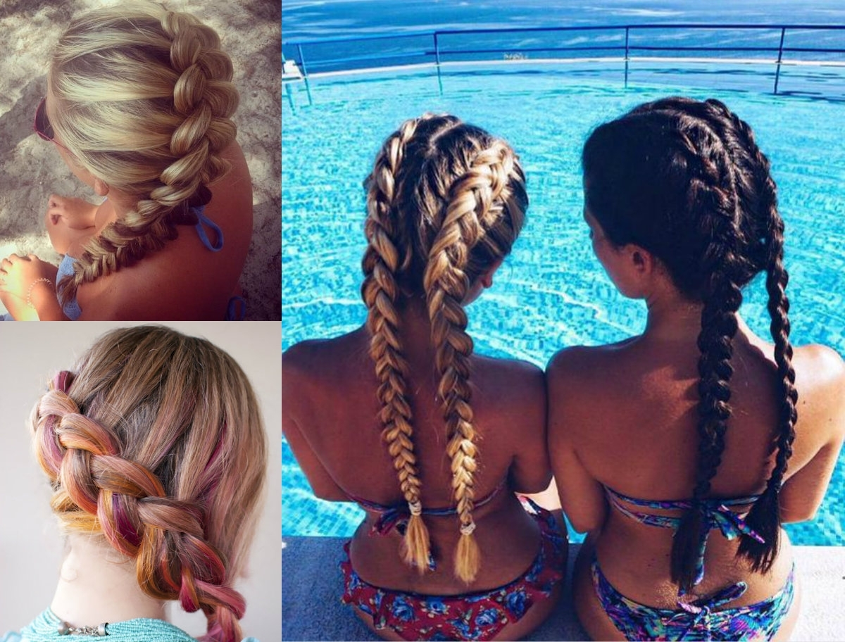 Most Recently Released Romantic Curly And Messy Two French Braids Hairstyles With Dutch Braids Hairstyles Ideas To Inject You Some Romance (View 7 of 15)