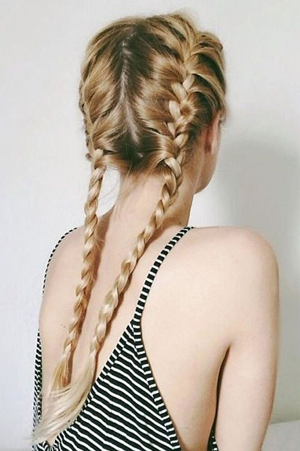 Most Recently Released Two French Braids And Side Fishtail With French Braids 2018 (mermaid, Half Up, Side, Fishtail Etc (View 12 of 15)