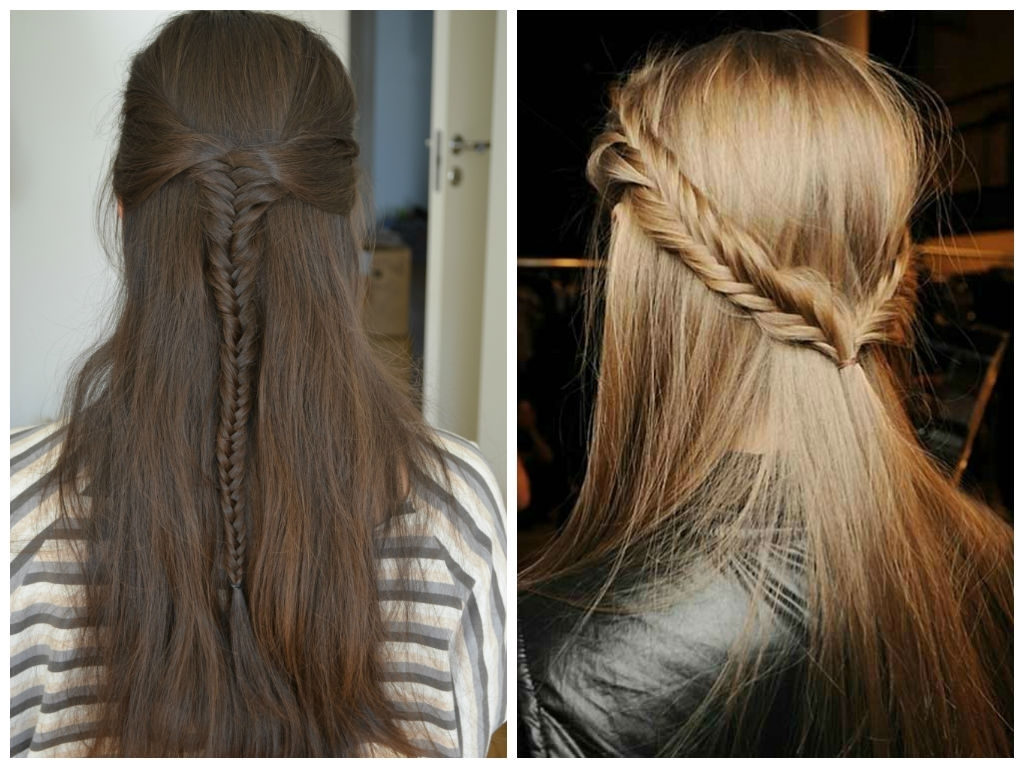 Most Recently Released Upside Down Fishtail Braid Hairstyles Pertaining To Braided Half Up Hairstyles – Hair World Magazine (View 5 of 15)