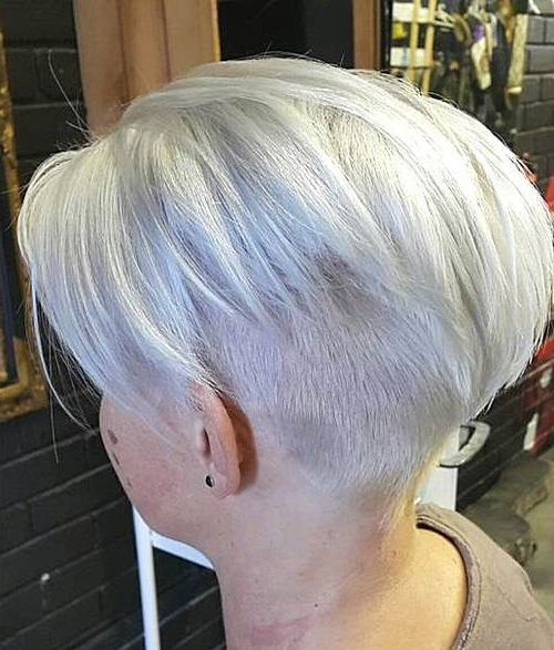 Most Up To Date Ash Blonde Pixie With Nape Undercut Pertaining To 50 Trendiest Short Blonde Hairstyles And Haircuts (View 8 of 15)