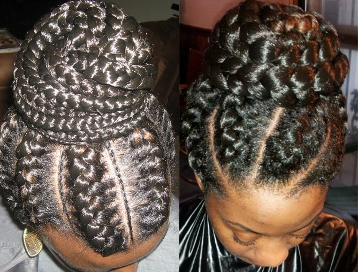 Most Up To Date Black Braided Bun Updo Intended For 29 Premium Braided Bun Hairstyles For Black Hair ~ Louis Palace (View 13 of 15)