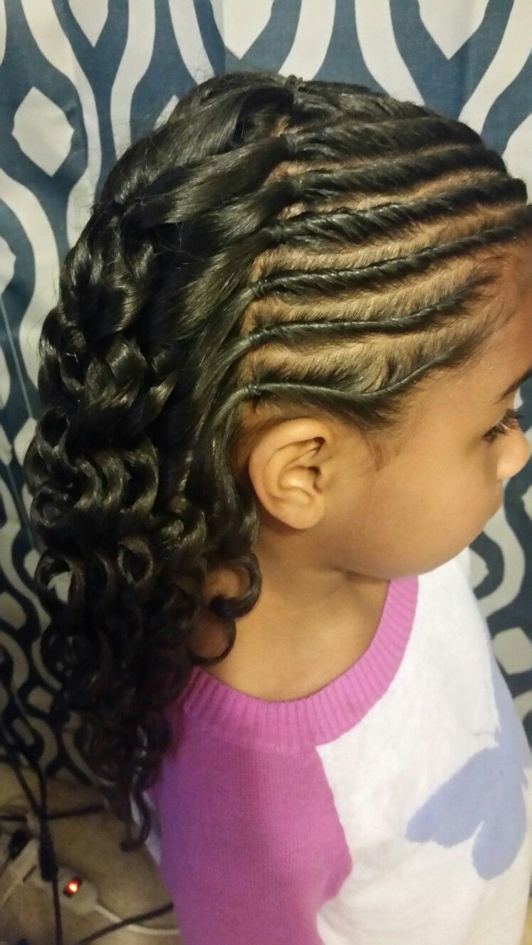 Most Up To Date Cornrow Hairstyles For Graduation Inside Wand Curls For Graduation (View 11 of 15)