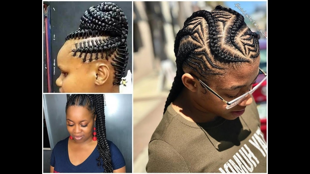 Most Up To Date Cornrow Updo Braid Hairstyles Within 2018 Summer Braids : Stunning And Stylish Braided Hairstyles – Youtube (View 15 of 15)