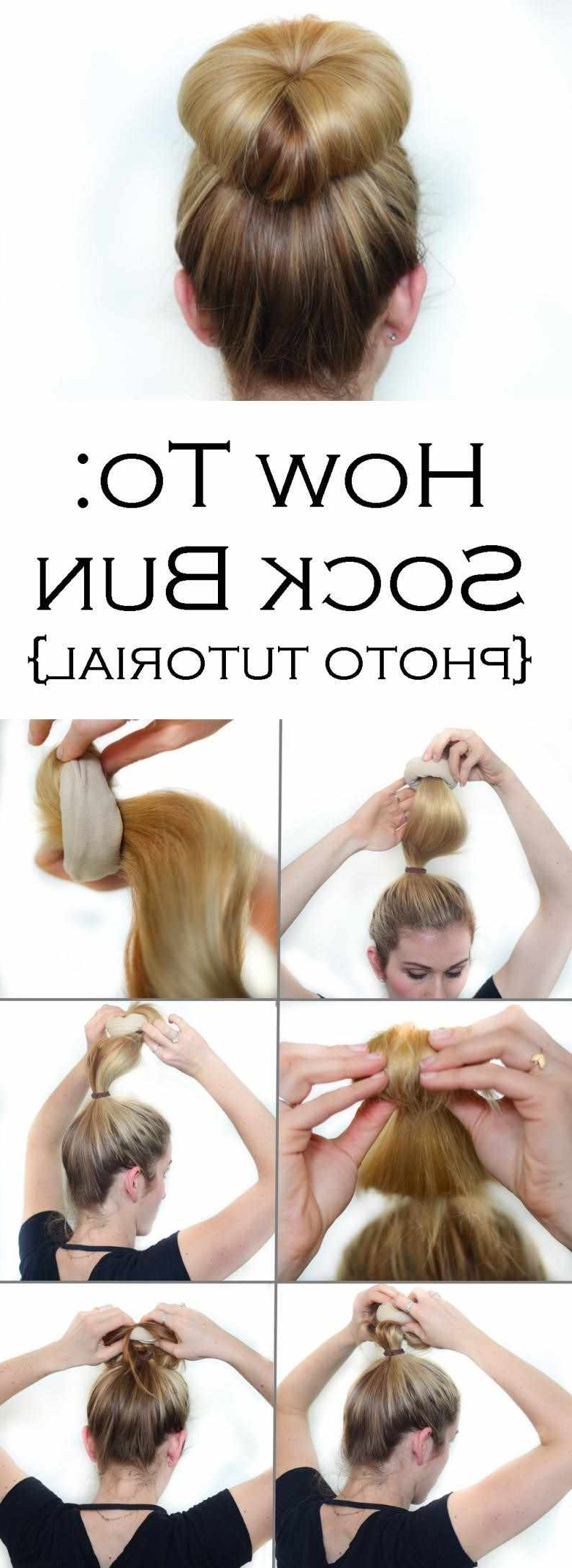 Most Up To Date Cotton Candy Updo Hairstyles With Hairstyles Best Hairstyles Tumblr Tutorial Bun Hair Buns Ideas On (View 12 of 15)