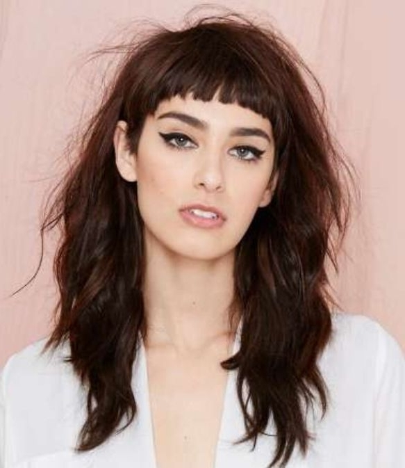 Most Up To Date Cropped Tousled Waves And Side Bangs In Short Cropped Bangs With Long Messy Hair. Love It (View 11 of 15)