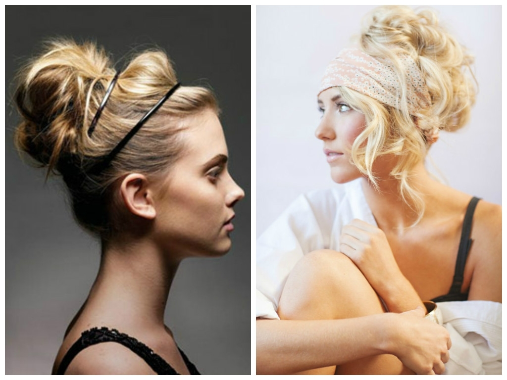 Featured Photo of Large High Bun With A Headband