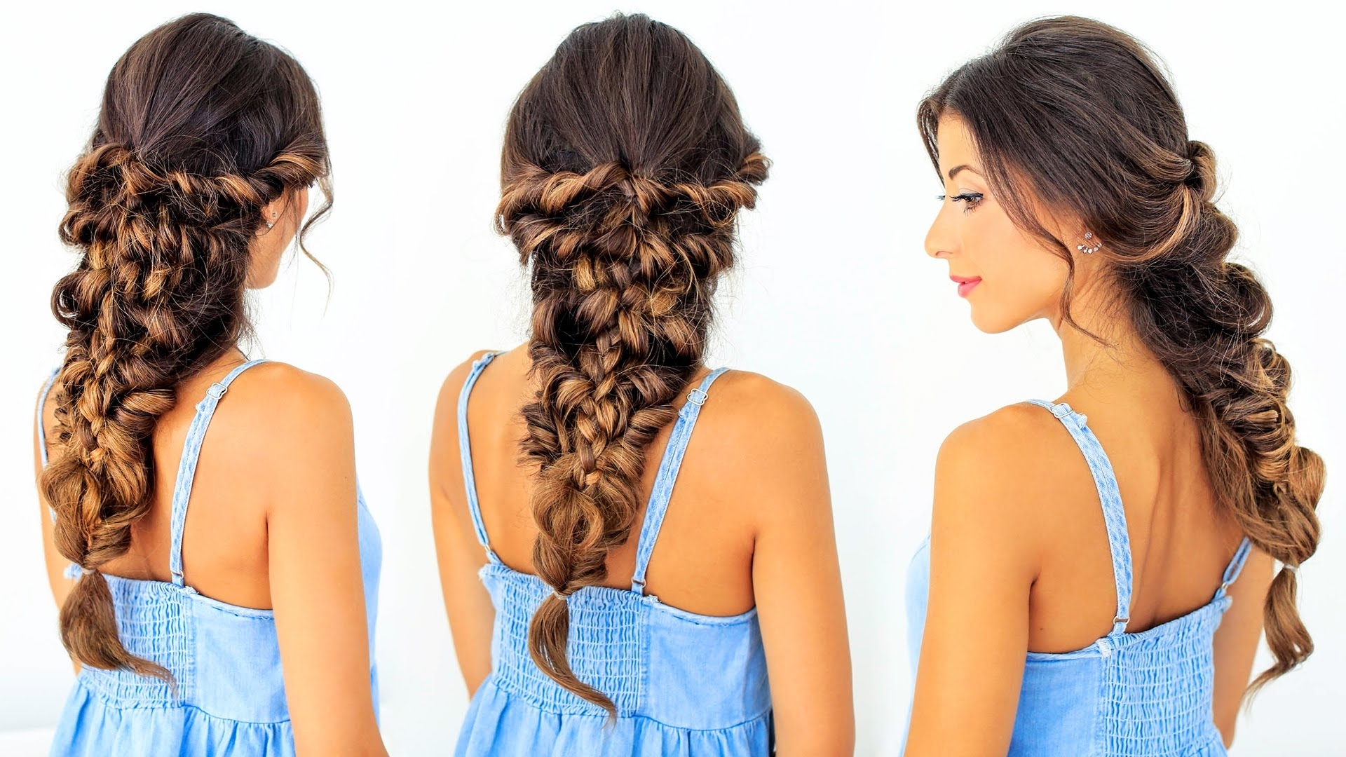 Most Up To Date Mermaid Braid Hairstyles Intended For How To: Mermaid Braid Hair Tutorial (View 14 of 15)