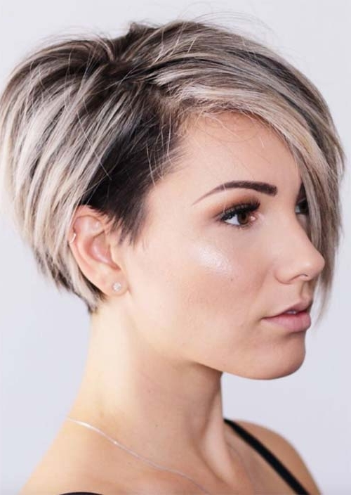 Most Up To Date Pixie Bob Haircuts With Temple Undercut Pertaining To 51 Edgy And Rad Short Undercut Hairstyles For Women – Glowsly (View 8 of 15)