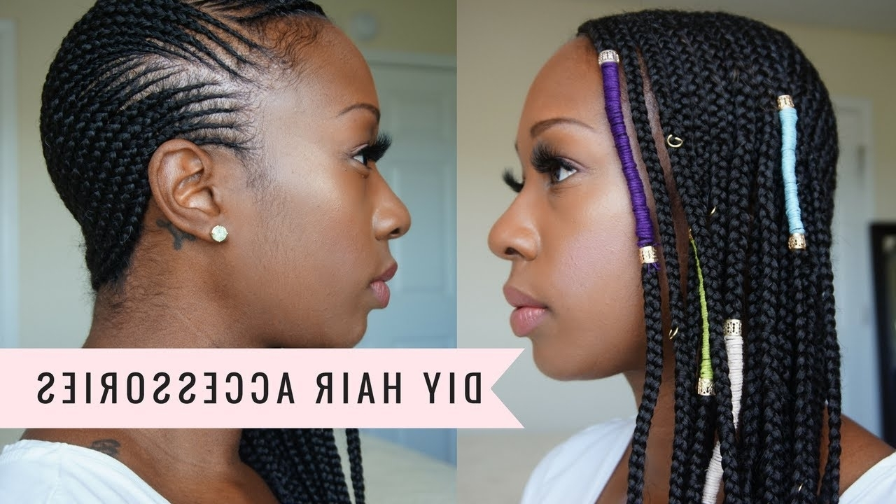 Most Up To Date Ponytail Braids With Quirky Hair Accessory Intended For Diy Hair Accessories For All Braids (Hemp/jewelry) – Youtube (Gallery 1 of 15)