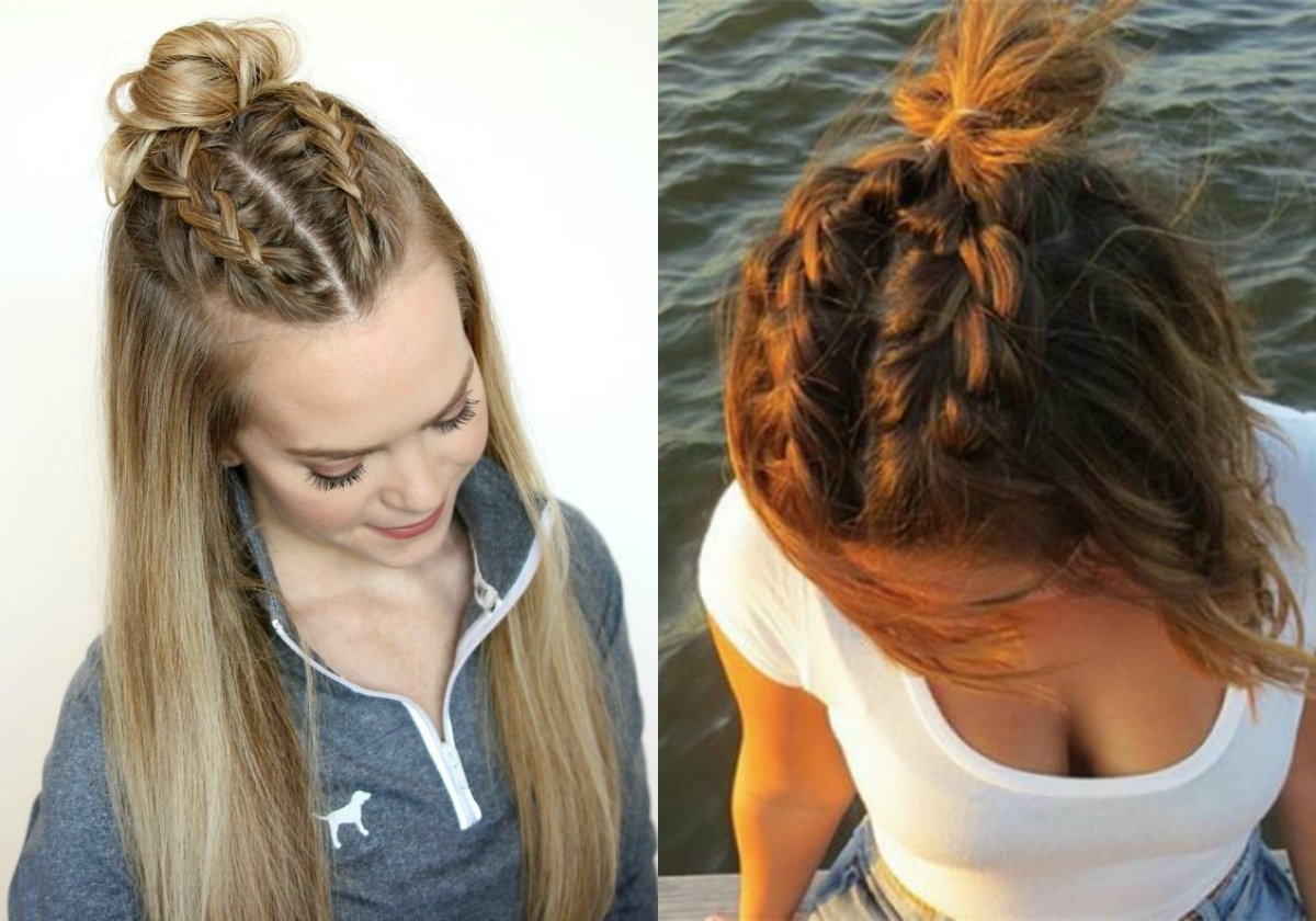 Most Up To Date Romantic Curly And Messy Two French Braids Hairstyles In Dutch Braids Hairstyles Ideas To Inject You Some Romance (View 8 of 15)