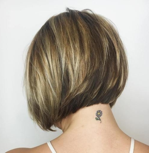 Most Up To Date Stacked Pixie Haircuts With V Cut Nape Pertaining To Hairstyle: Astounding Short Stacked Bob Haircuts Inspiration Layered (View 8 of 15)
