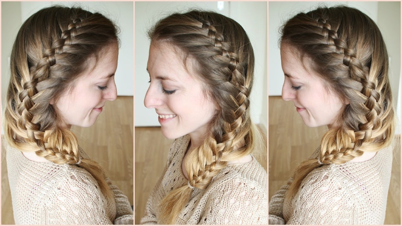 Most Up To Date Two French Braids And Side Fishtail Within Side Woven French Fishtail Braid (View 13 of 15)