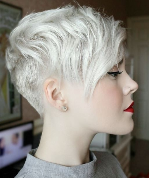 Most Up To Date Uneven Undercut Pixie Haircuts Within 70 Short Shaggy, Spiky, Edgy Pixie Cuts And Hairstyles (View 9 of 15)