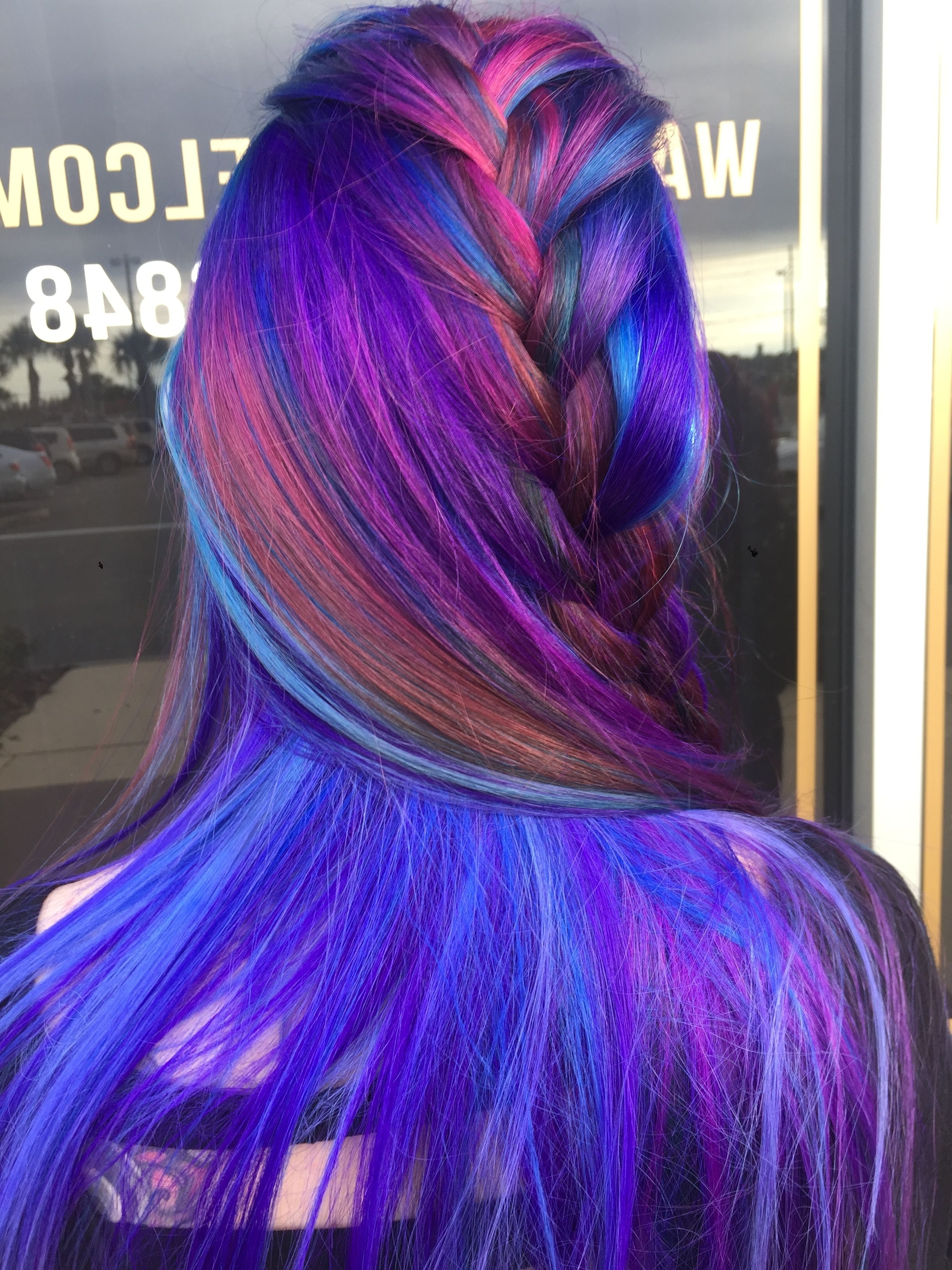 My Work With Regard To Widely Used Extra Long Blue Rainbow Braids Hairstyles (View 12 of 15)