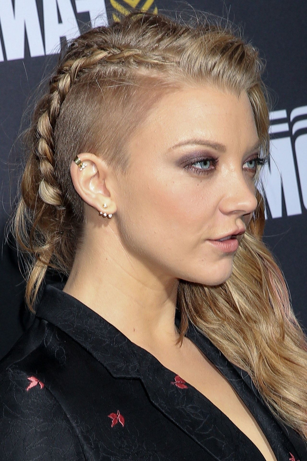 Natalie Dormer Wears A Fierce Braid Comic Con's Mtvu Fandom Awards Within Fashionable Fiercely Braided Hairstyles (View 12 of 15)