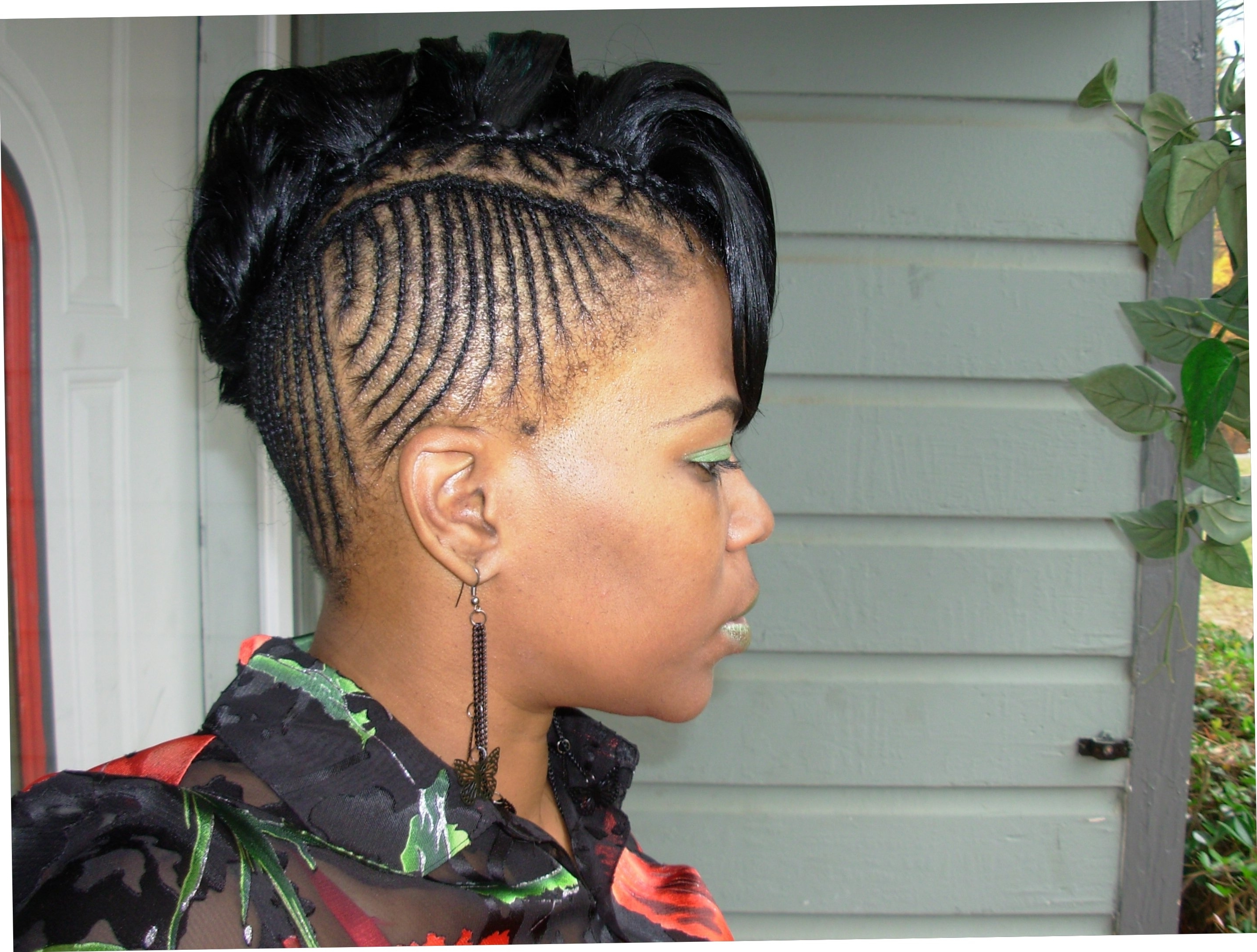 Natural Braided Mohawk Hairstyles For Black Women 17 Best Images Inside Widely Used Black Braided Mohawk (View 12 of 15)