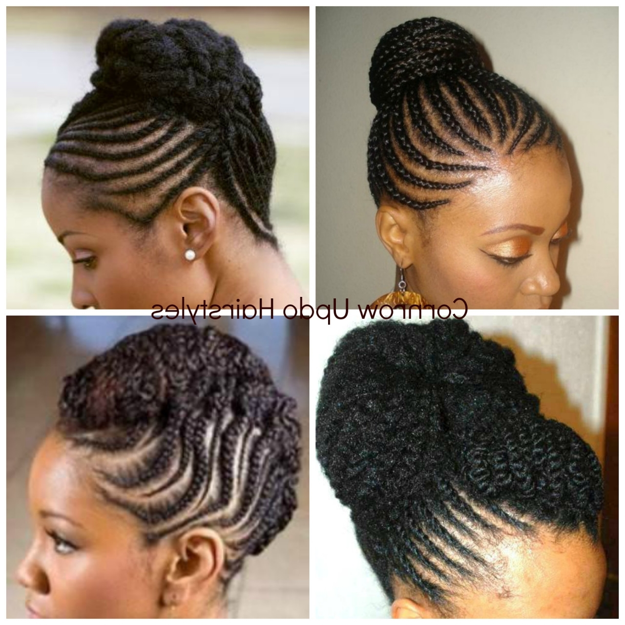 Natural Cornrow Updos For African American Hairstyles Pictures Regarding Most Current Cornrows African American Hairstyles (View 10 of 15)