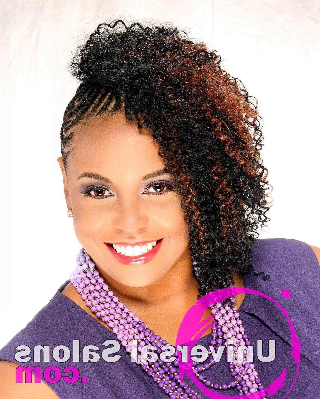 Featured Photo of Cornrows Hairstyles With Extensions