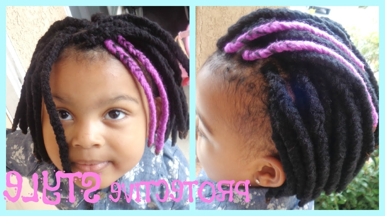 Natural Hair Braids For Kids: Protective Style Yarn Braids – Youtube For Favorite Braided Yarn Hairstyles (View 8 of 15)