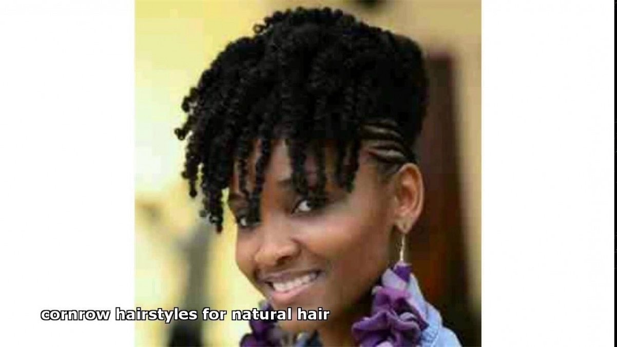 Natural Hair Cornrows Hairstyles – Hairstyle Picture Magz (View 9 of 15)