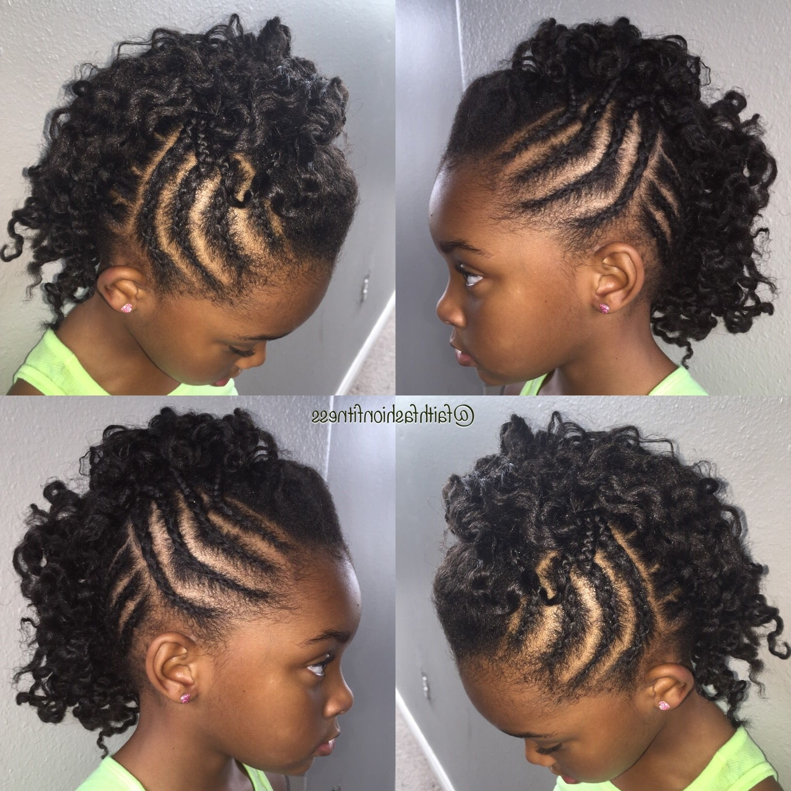 Natural Hairstyle For Girls Mohawk Cornrows Twist Out (View 5 of 15)