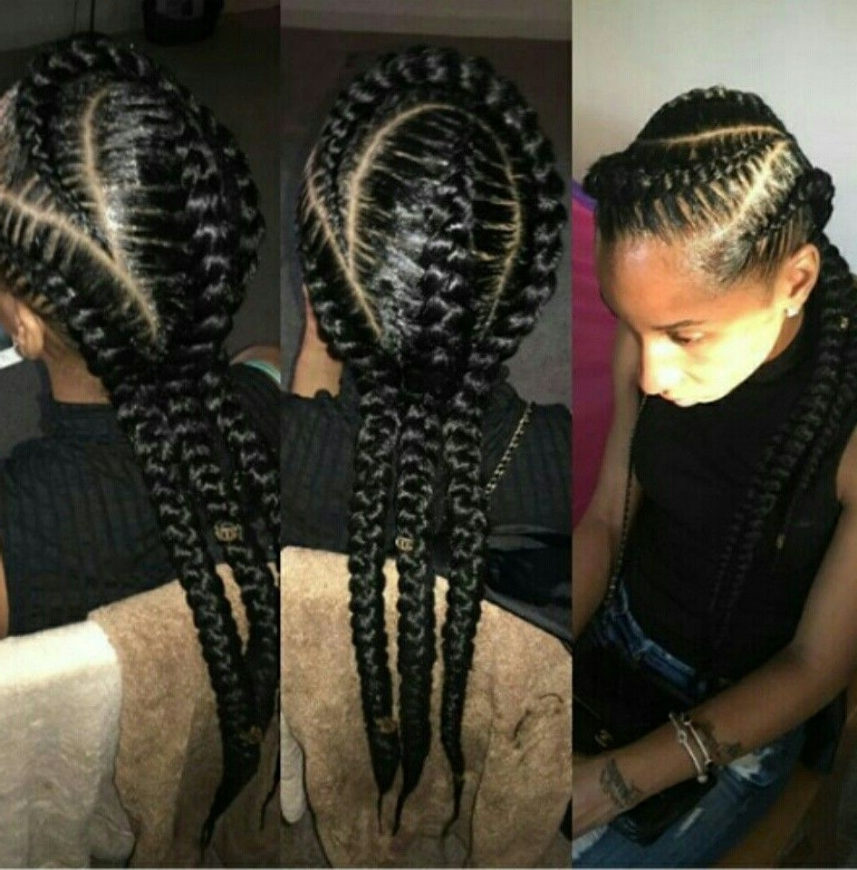 Natural Styles That I'd Like To Try In Widely Used Thick And Thin Asymmetrical Feed In Braids (View 8 of 15)