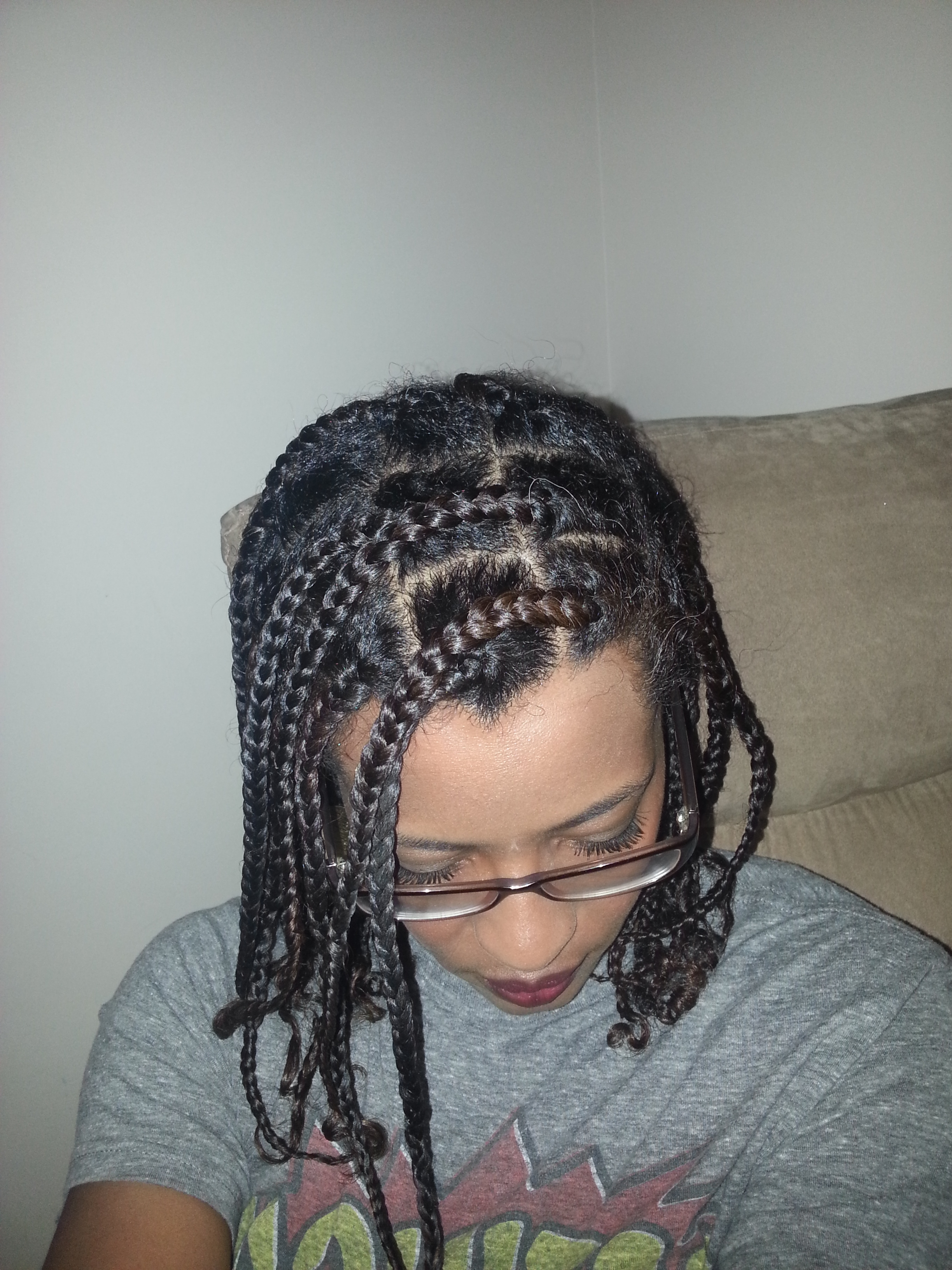 Naturally Kinkerbelle With Widely Used Cornrows Hairstyles Without Extensions (View 3 of 15)
