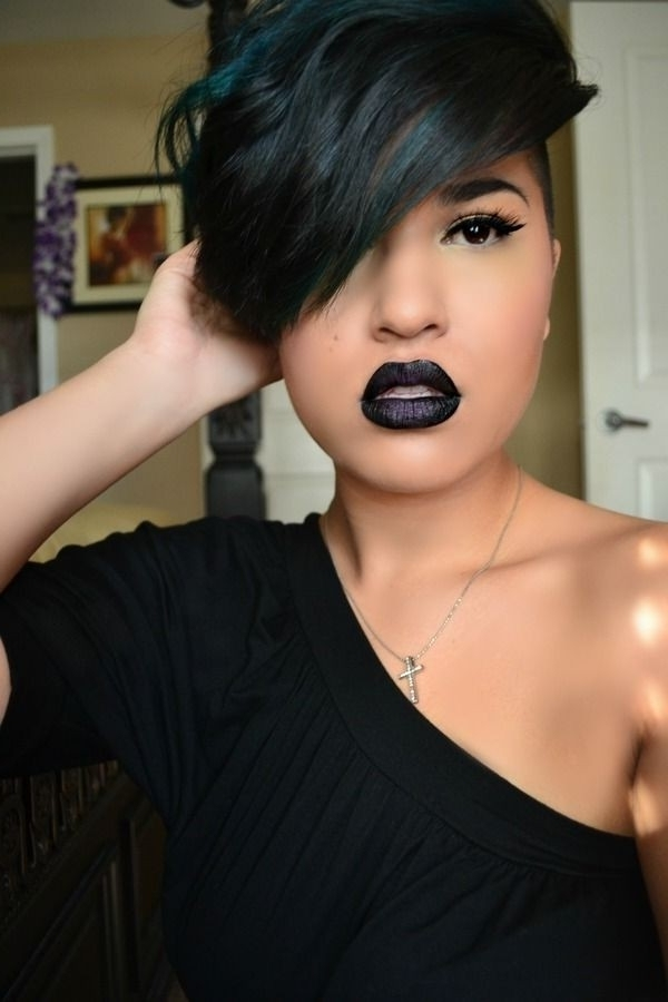Newest Choppy Asymmetrical Black Pixie Haircuts Pertaining To 10 New Black Hairstyles With Bangs – Popular Haircuts (View 10 of 15)
