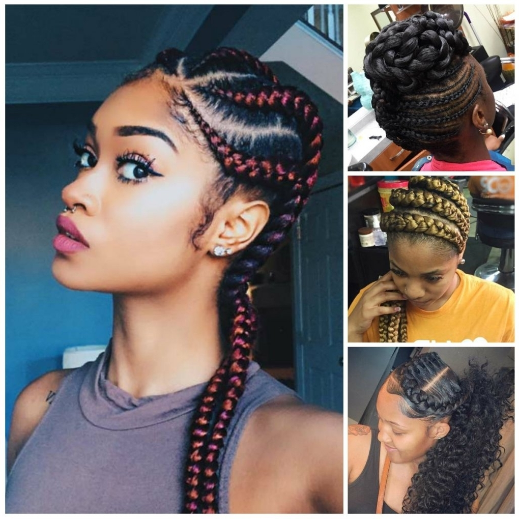 Newest Cornrow Updo Braid Hairstyles In Latest Cornrow Hairstyle Braided Hairstyles 2017 Coolest Cornrow (View 12 of 15)