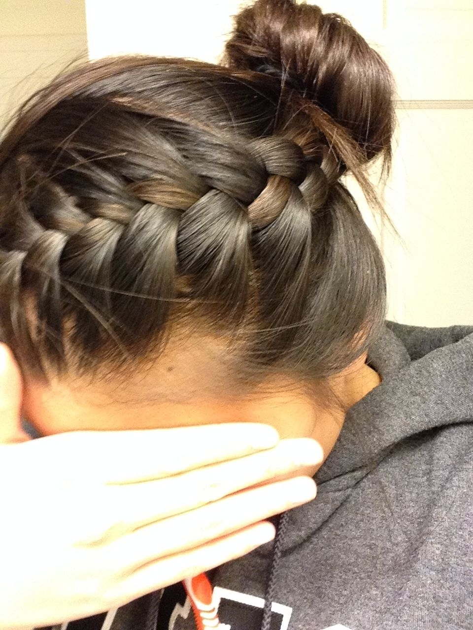Newest French Braids Into Bun Regarding French Braid Into Bun (View 12 of 15)