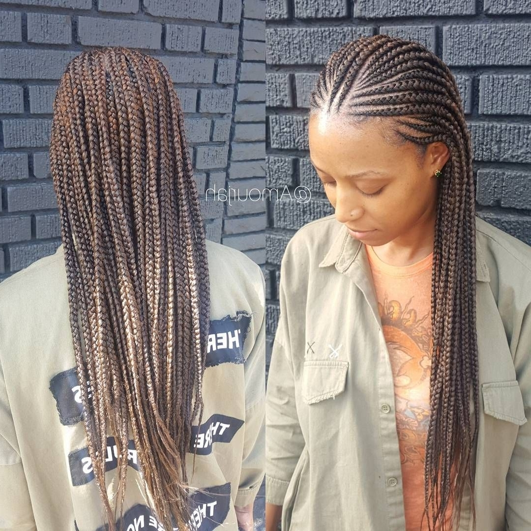 "Newest Half Cornrow Hairstyles Pertaining To 1,127 Likes, 18 Comments – Amourjah (@amourjah) On Instagram: ""Book (View 12 of 15)"