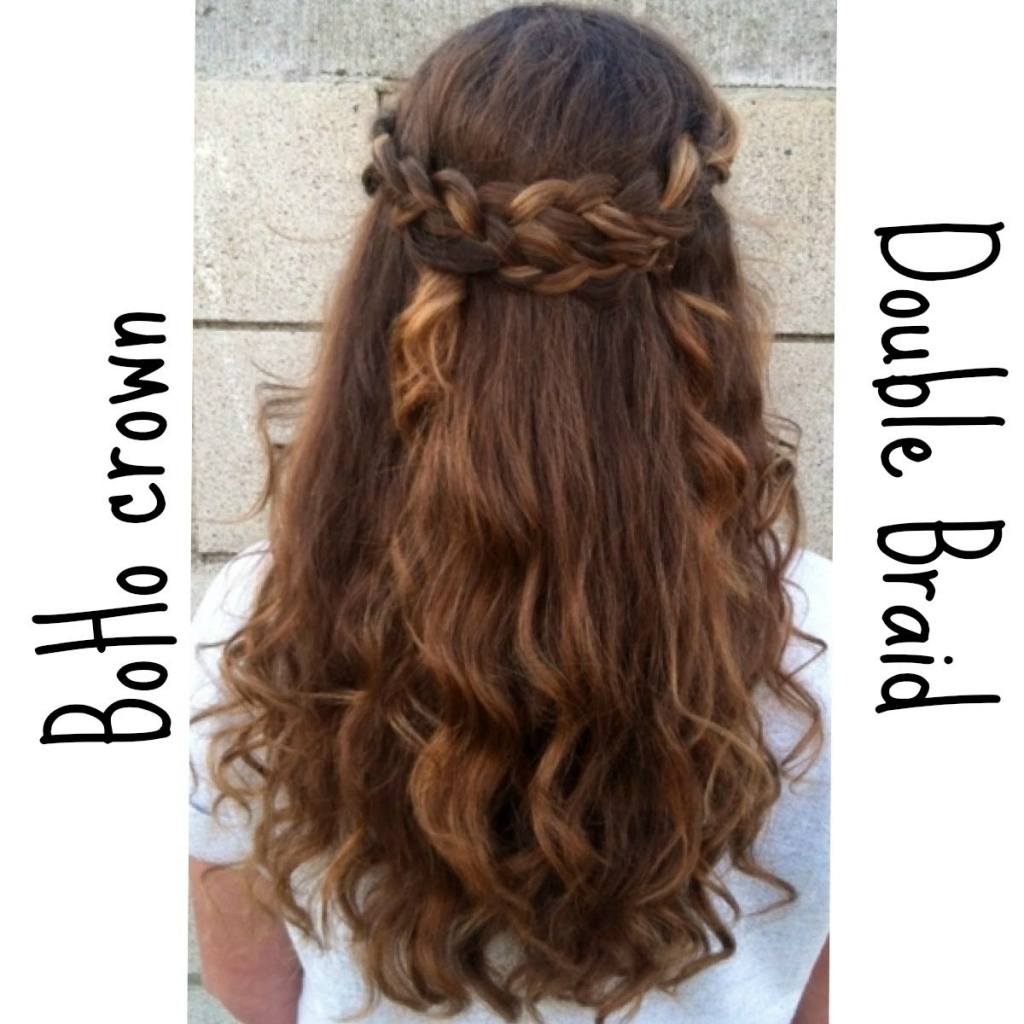 Newest Plaits Hairstyles Youtube In Braid Hairstyle Down Braided Half Up Half Down Hairstyle Youtube (View 3 of 15)