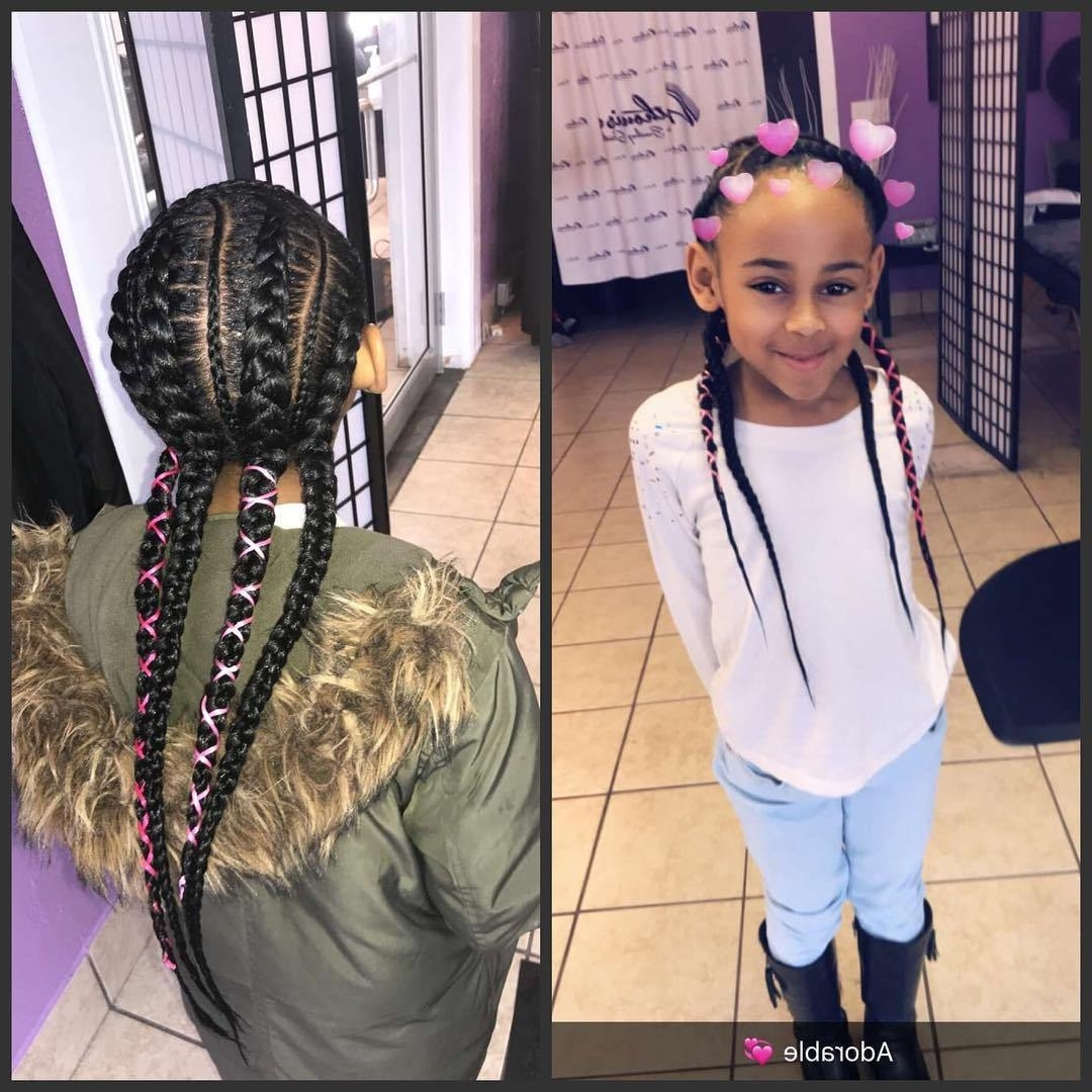 Newest Two Braids Into One Braided Ponytail Inside Awesome Braided Hairstyles For Little Girls – Loud In Naija (View 8 of 15)